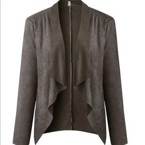 Jackets & Blazers - Faux Suede Jacket